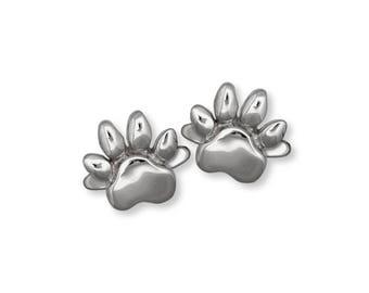 Dog Paw Cufflinks Jewelry Sterling Silver Handmade Dog Cufflinks PW9-CL