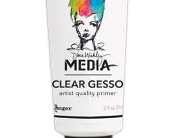 Dina Wakley CLEAR GESSO 2 oz tube Media Mediums MDM46417 1.cc03