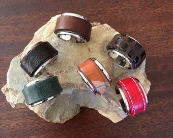 Handmade Italian Leather Rings RM63-69R