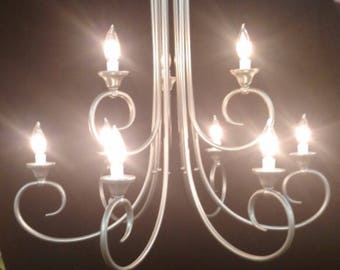 Vintage French County Chandelier. 9 lights