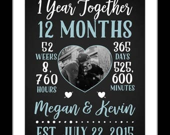 1 Boyfriend anniversary gift, boyfriend one year anniversary, personalized, boyfriend gift ideas, cute boyfriend gifts, boyfriend girlfriend