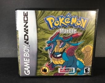Pokemon Marble ROM Hack Fan Made Game Gameboy Advance GBA Custom Case