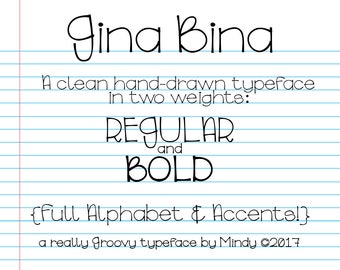 Gina Bina Typeface
