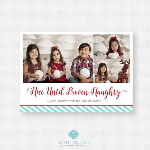 Printable Christmas Card -  Christmas card template - Holiday Greeting Cards
