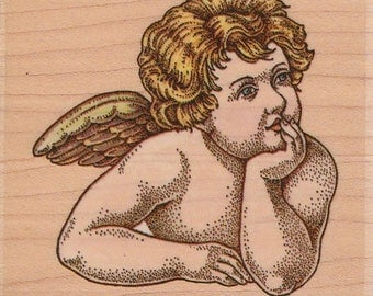 Cynthia Hart Daydreaming Angel Rubber Mounted Stamp 653E Rubber Stampede New
