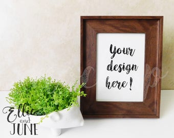 Portrait frame mock up, stock photo, staged photography