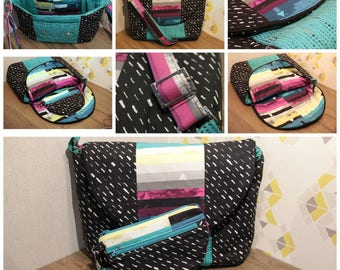 Great cross body bag with adjustable shoulder strap with a matching pouch