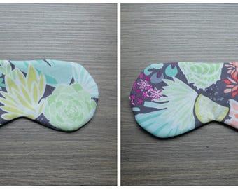 Floral patterned sleeping mask