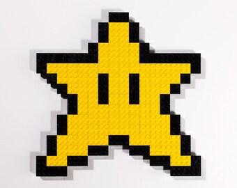 LEGO Super Mario Super Star Wall Art