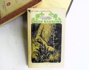 Green Mansions by W. H. Hudson  (1963, Bantam Books) Vintage Literature & Fiction Gothic Romance Paperback