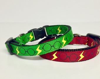 Harry Potter inspired Cat Collar  - Dog Collar - Gryffindor - Ravenclaw - Slytherin - Christmas - Dog Gift