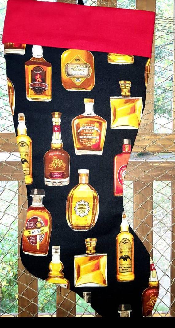Whiskey Christmas Stocking
