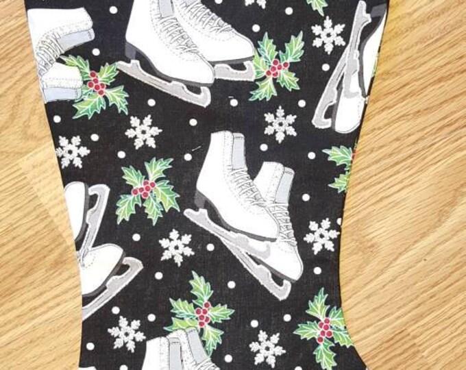 Ice Skate Christmas Stocking