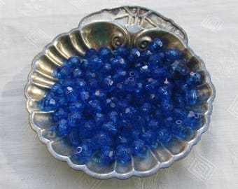 Lot Of Salvaged Blue Acrylic Beads
