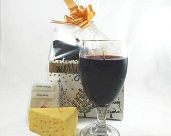 Wine & Cheese Candle Gift Set