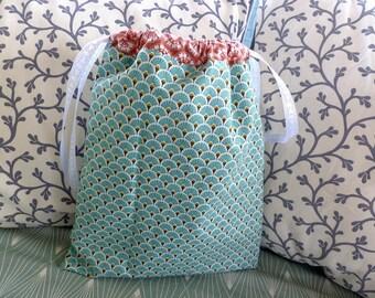 """Green bag POUCH """"fans"""""""
