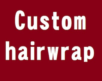 Custom Hairwrap, Atéba, Faux-dread