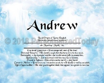 Hands Name Meaning Origin Print Name Personalized Certificate 8.5 x 11 Inches Customized With Any Name