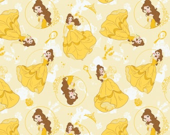 Belle, Beauty and the Beast Disney Fabric