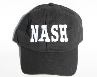 Black Embroidered Nashville hat- NASH Embroidered Hat