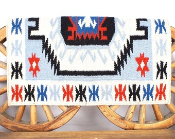 Merino Mohair Wool Western Horse Saddle Pad Rug Blanket Home Decor Handmade by MadcoW