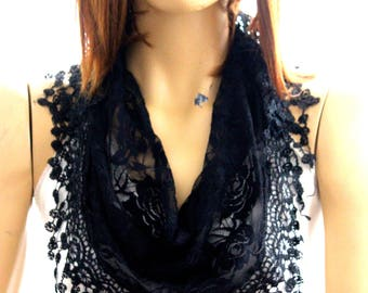 black lace scarf. summer scarf, scarves, summer accessories, accessories, scarf, lace scarves, lace shawl, black lace shawl, black lace
