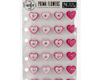 Prima Traveler's Journal Hearts Sweetheart 24/Pkg  594121