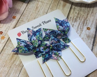 Lilly Pulitzer - Set of 3 Planner Clips / Bookmarks