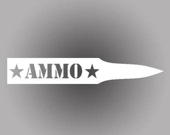 4th of July SALE: Ammo Star Bullet Decal | Set of 2