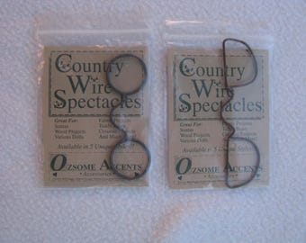 Ozsome Accents, Happy Hollow Designs, Accessories Lot, Eyeglasses, Wire Spectacles, Santa Claus, Doll Accessories