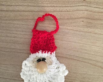 Red and white Santa - Christmas hanging decoration