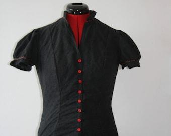 Retro rockabilly blouse