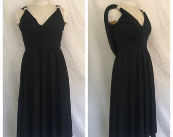Vintage 1970's Lillie Diamond Dress with Rhinestone Detail