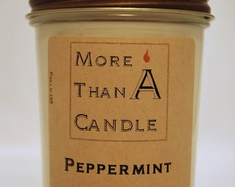 8 oz Peppermint Soy Candle