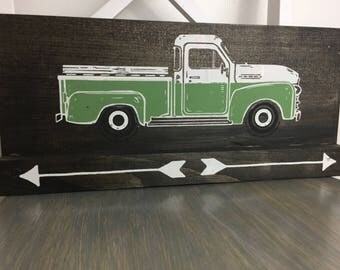 Green Vintage Truck Sign - Sign Home Decor