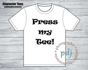 Press my Personalized Character Onesie/Tee for me! Pick from one of our designs and we will press your tee for you!