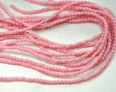 2mm round smooth druk beads Czech pressed glass coral pink 100 beads