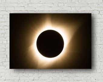 Eclipse Canvas, Eclipse Wall Art, Solar Eclipse Canvas, Solar Eclipse Fine Art, Total Eclipse, Eclipse Photography, Wall Art Eclipse