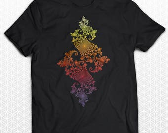 Julia Set Fractal T-shirt (Color Fade) /  Sacred Geometry Clothing