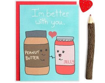 Moving SALE Food Puns, Valentines Day Card, I Love You Card, Boyfriend Card, Cute Funny Card, Hearts, Be Mine, For Girlfriend, Anniversary
