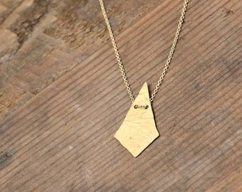 NEW // SPECTACLE Necklace // Minimalist Jewelry // Handcut metal brass necklace