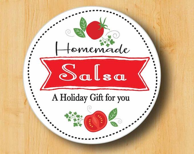 Food Gift Labels | Salsa Labels | Hostess Gift Labels | Holiday Gift Labels | Christmas Gift Labels | Salsa Sticker | Salsa Recipe
