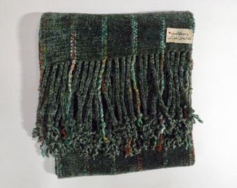 NEW ITEM! Chunky Handwoven Rayon Chenille Scarf