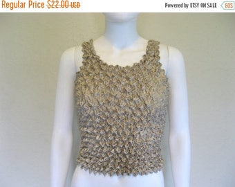 25% off SALE Ecru Colored textured tank top