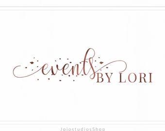 Event Planner Logo Design, Blush Logo, Rosegold Logo, Florist Logo Design in Pink, Stylist Logo, Premade Logo Design Boutique, L140