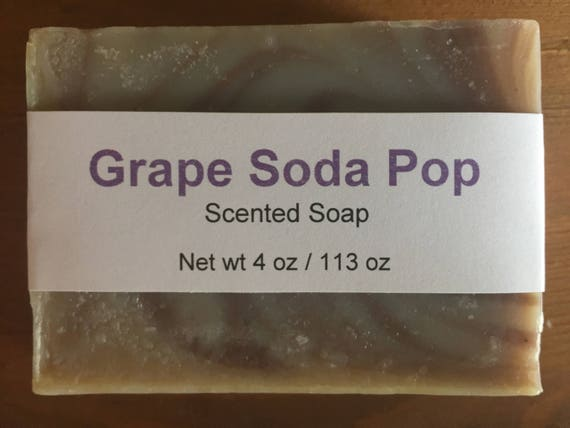 Grape Soda Pop Scented Cold Process Soap for Kids with Shea Butter