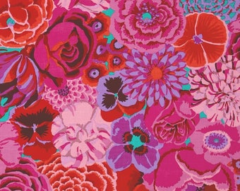 NEW Free Spirit Kaffe Fassett Large Bekah Magenta Pink Floral GP69 MAGEN Fabric BTY 1 yd