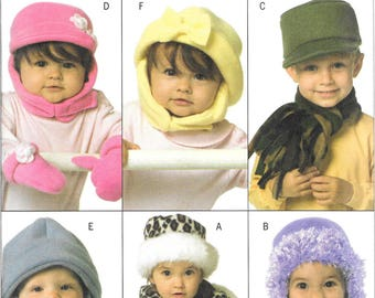 INFANT/Toddler  HATS Scarves & MITTENS Butterick Pattern 4673