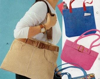McCall's Fashion Accessories Pattern 4117 FOUR HANDBAGS