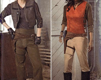 Star Wars ROGUE Costumes Simplicity Pattern 8480 JYN ERSO Misses Sizes 16 18 20 22 24